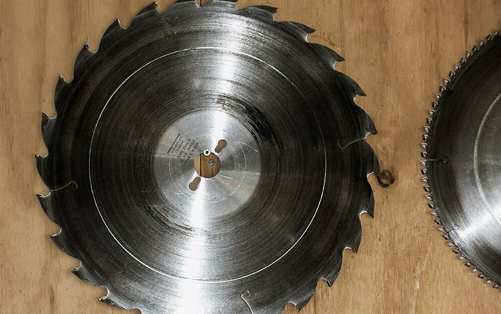 Parkhill Joinery workshop saw blade