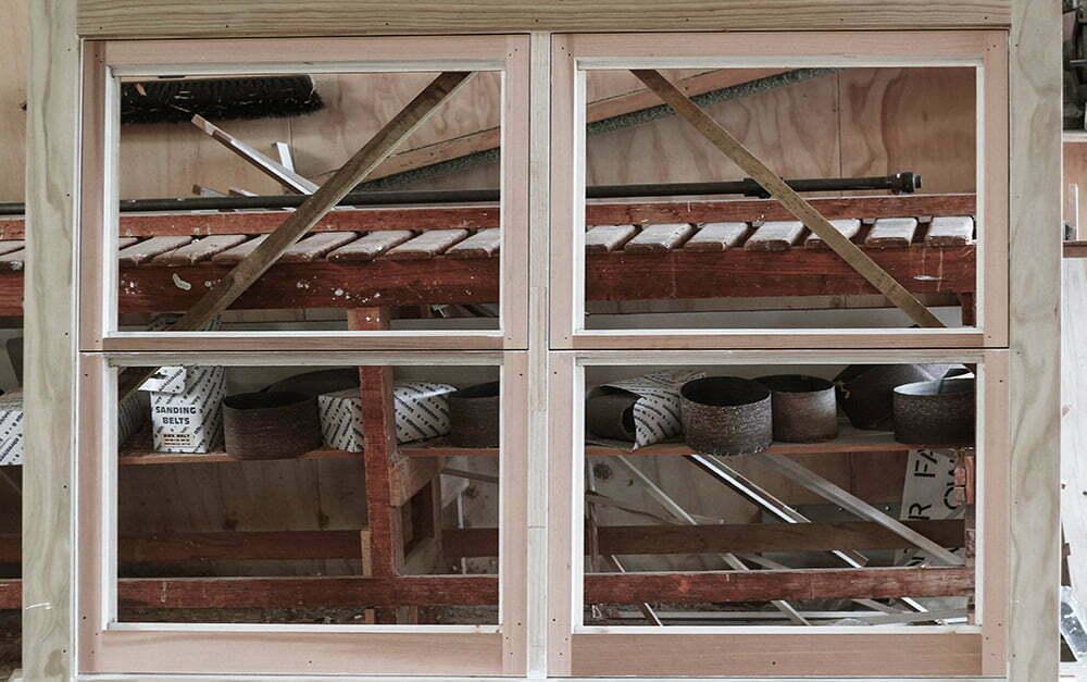 Parkhill Joinery workshop window frame